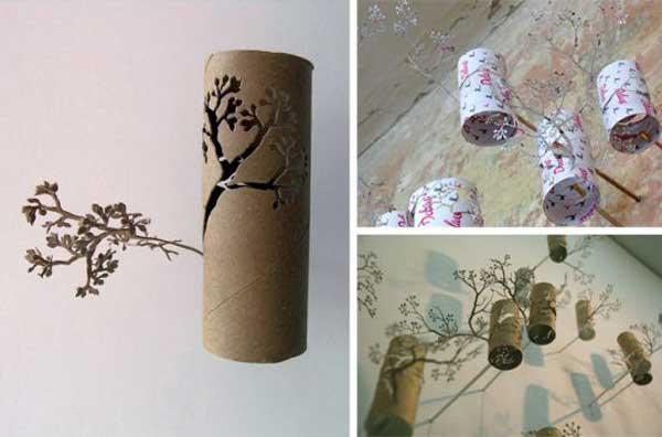 Meravigliose idee per creazioni con i rotoli di carta